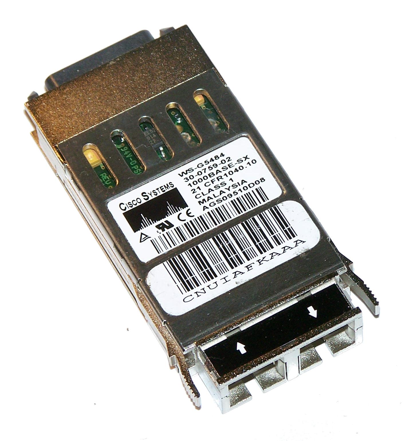 Cisco 30-0759-02 1000BASE-SX 850nm GBIC WS-G5484 Transceiver Thumbnail 1