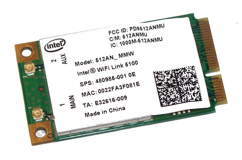 HP 480985-001 WLAN Mini PCIexpress Card WiFi Link 5100 300Mbps 802.11a/b/g/n