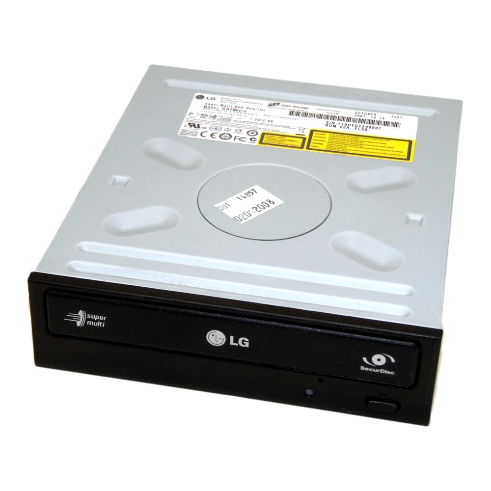 HL Data GH20NS10 Super Multi DVD Rewriter SATA DVD±RW DL H/H Drive | Black Bezel
