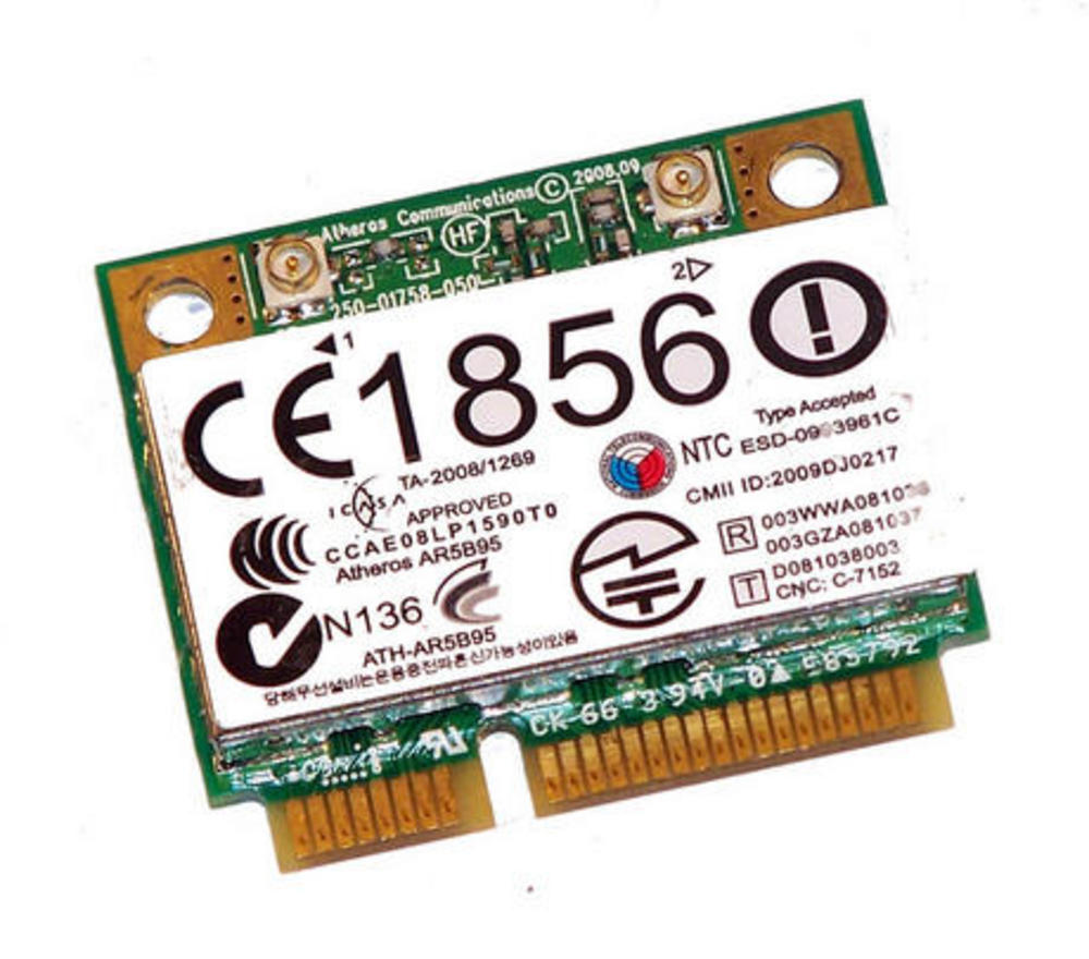 HP 495846-004 WLAN Mini PCIexpress Card ATH-AR5B95 802.11b/g/n | SPS 580101-002 Thumbnail 1