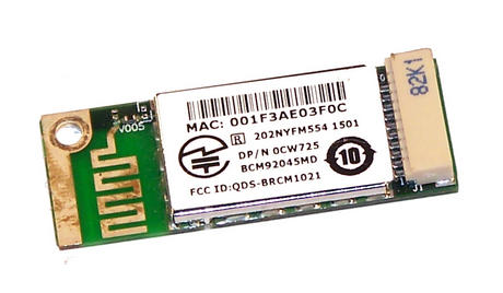 Dell CW725 Vostro 1720 TrueMobile 355 Bluetooth Module | 0CW725  BCM92045MD Thumbnail 2