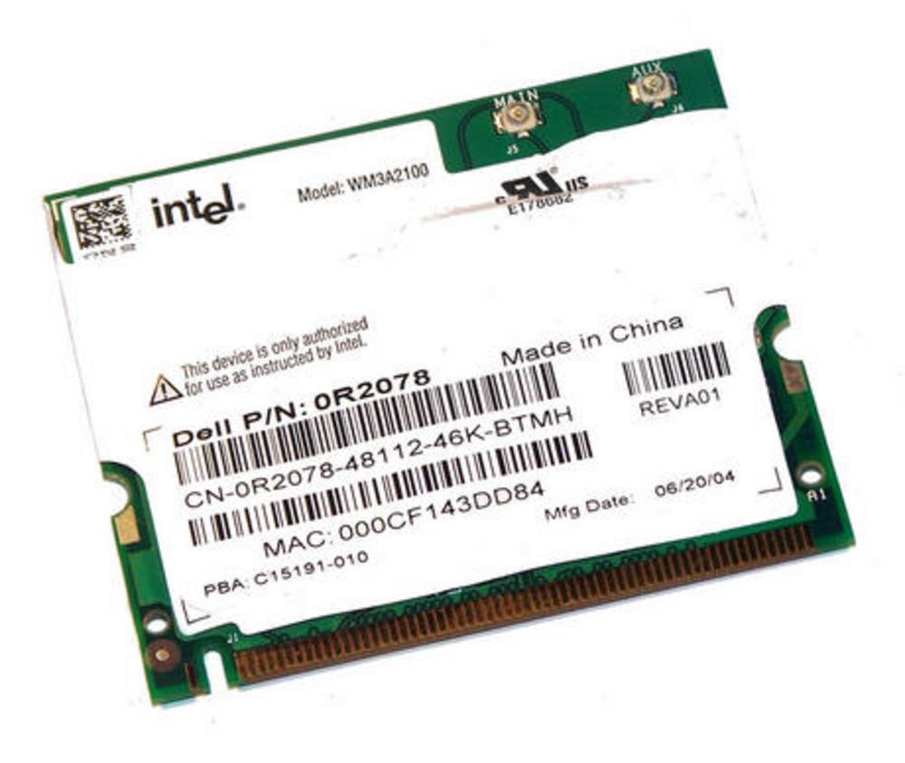 Dell 2R078 WLAN Mini PCI Card Intel WM3A2100 WiFi 11Mbps 802.11b Thumbnail 1