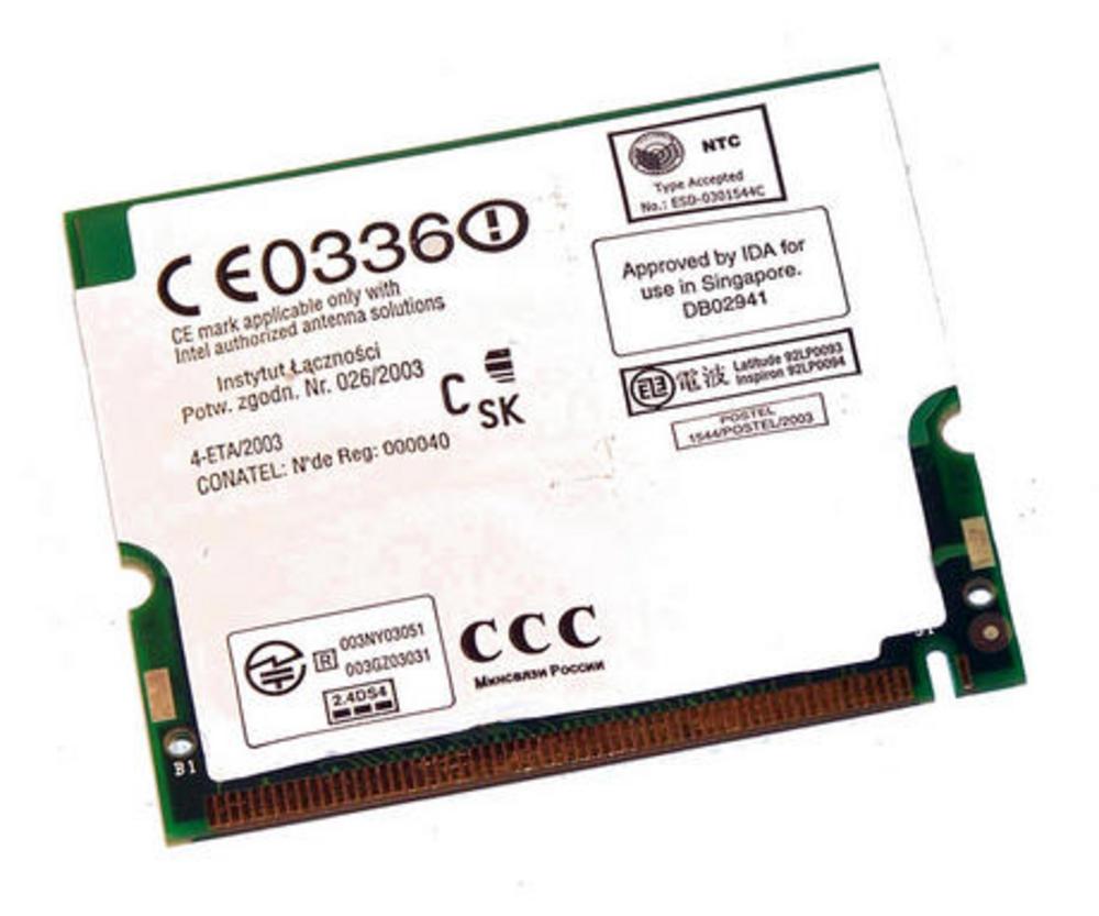 Dell 2R078 WLAN Mini PCI Card Intel WM3A2100 WiFi 11Mbps 802.11b Thumbnail 2