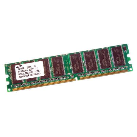 Samsung M368L3223FTN-CCC (256MB DDR PC3200U 400MHz DIMM 184-pin) Memory Module