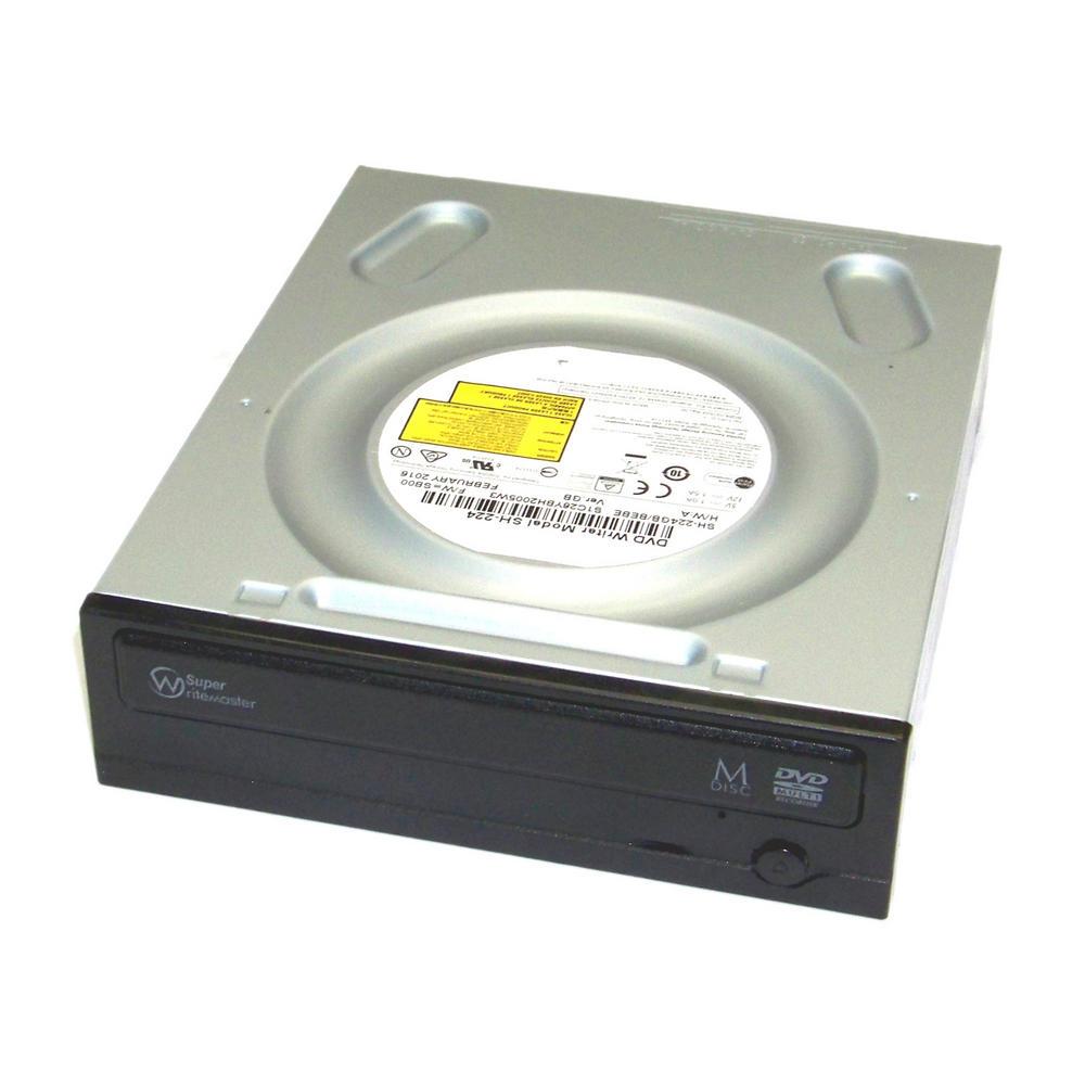TSST SH-224GB/BEBE SH-224 Half Height SATA DVD Recorder Drive | Black Bezel