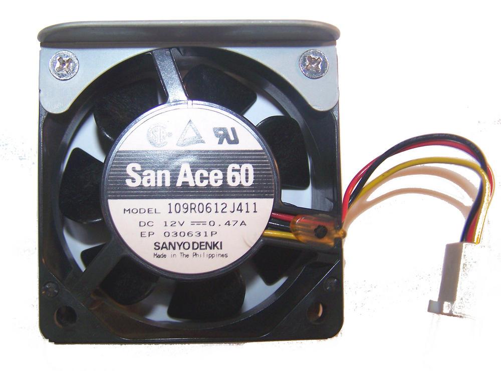 Sanyo Denki 109R0612J411 San Ace 60 12VDC 0.47A  60x38mm  3-Wire Fan 2695 13cm