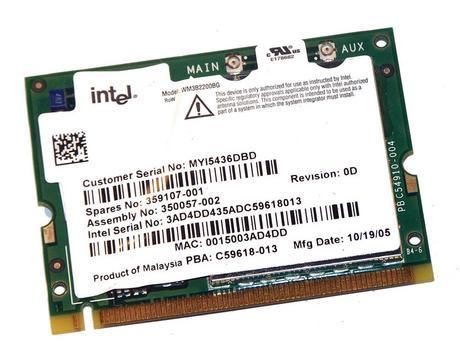 HP 350057-002 WLAN Mini PCI Card Intel WM3B2200BG WiFi 54Mbps 802.11bg