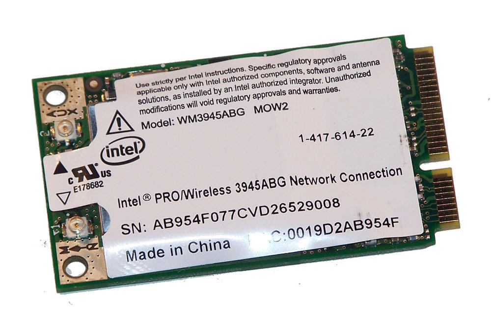 Intel D23031-005 WLAN Mini PCIexpress Card WM3945ABG WiFi 54Mbps 802.11a/b/g Thumbnail 2