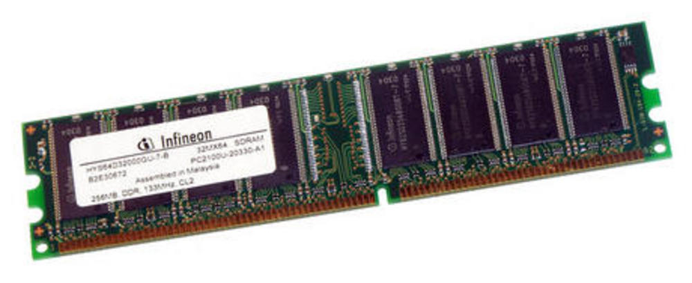 Infineon HYS64D32000GU-7-B (256MB DDR PC2100U 266MHz DIMM 184-pin) Memory