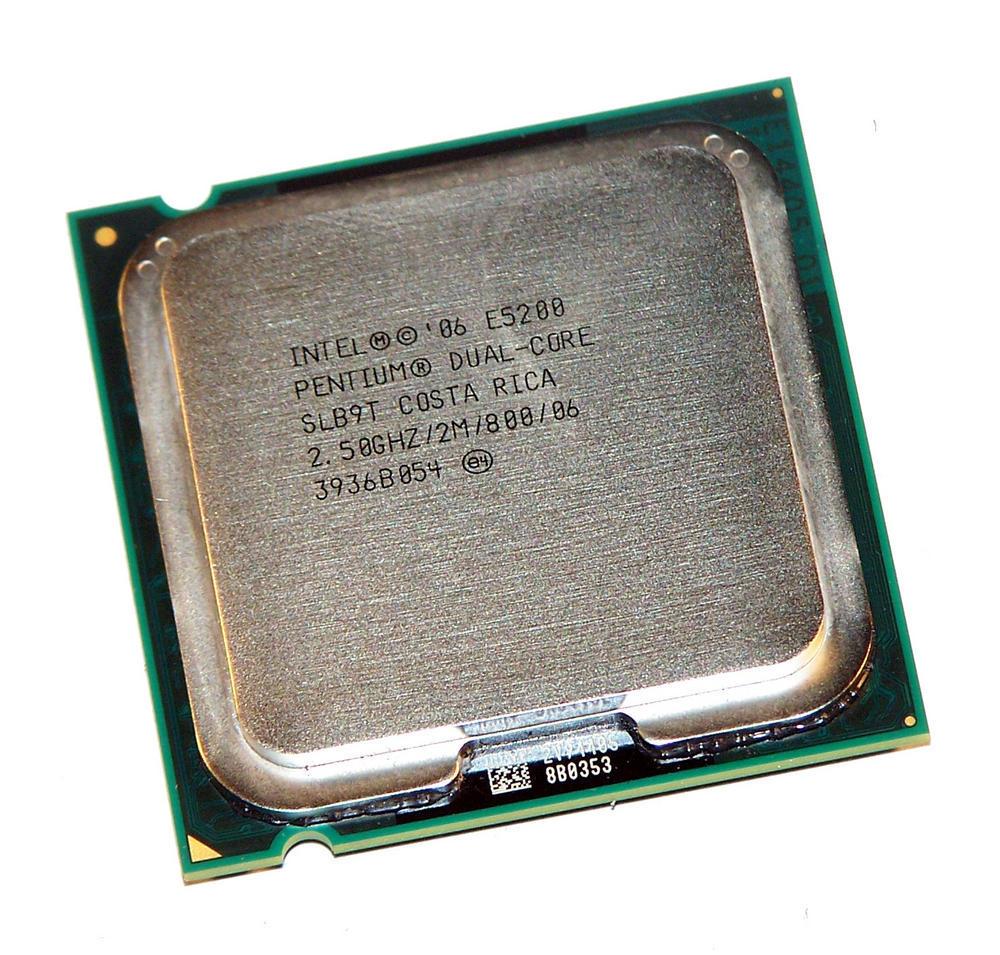 Intel AT80571PG0602M Pentium 2 Core E5200 2.5GHz Socket T LGA775 Processor SLB9T