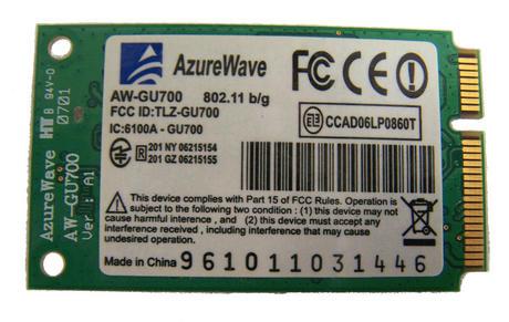 Viglen 6-88-M7702-701 AzureWave AW-GU700 WLAN Mini PCIexpress Card 802.11a/b/g Thumbnail 2