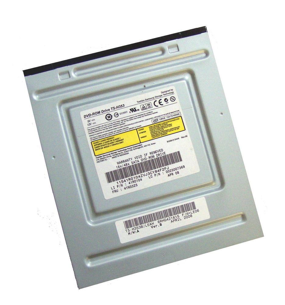 Lenovo 41R0104 SATA H DVD ROM Drive Black Bazel Model TS-H353|FRU 41N3325