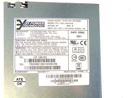 Fujitsu 81-00000031 FibreCAT SX100 712.8W Power Supply | 3Y Power YM-2751B Thumbnail 2