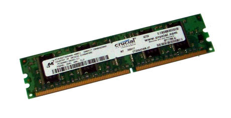 Crucial CT3264Z40B.4T (256MB DDR PC3200U 400MHz DIMM 184-pin) Memory Module Thumbnail 1