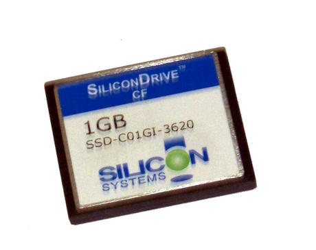 Silicon Systems SSD-C01G1-3620 SiliconDrive 1GB Compact Flash CF Card