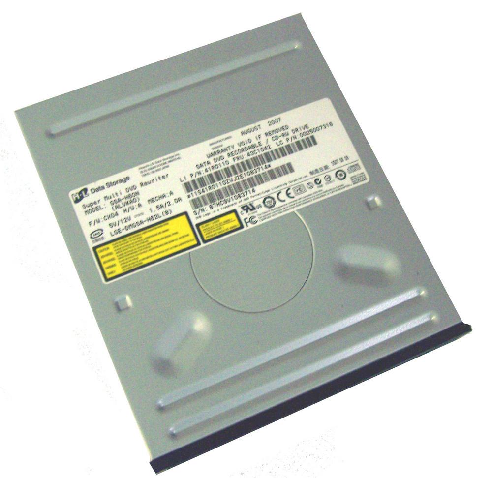 Lenovo 41R0110 SATA H/H  DVD-RW Drive   Model GSA-H60N Black Bezel FRU 43C1042