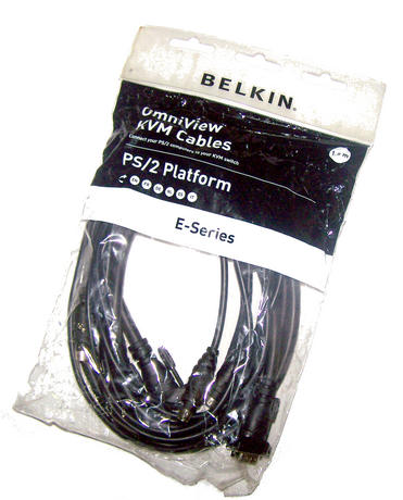New Belkin F1D9000bea06 6' E-Series PS/2 OmniView KVM Cable Thumbnail 1