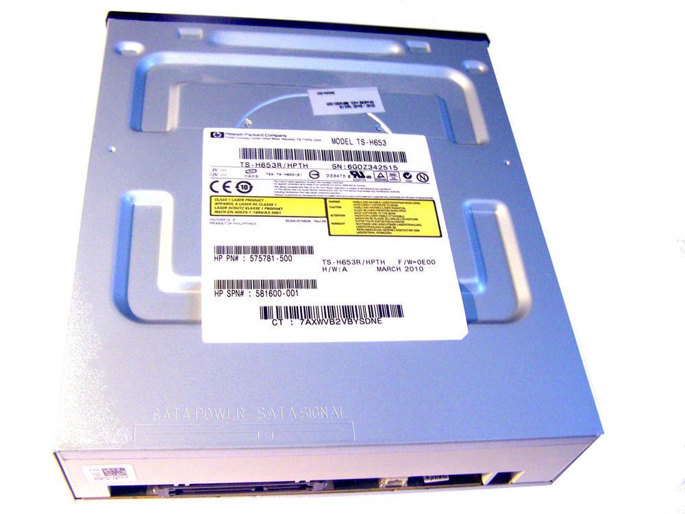 HP 575781-500 Black Bezel SATA H/H DVD DL Recorder Drive|TS-H653 SPS 581600-001