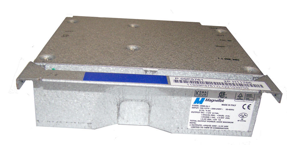 IBM 09P5761  pSeries 640 Model 7026-B80 544W Power Supply | MagneTek 3988-54-1