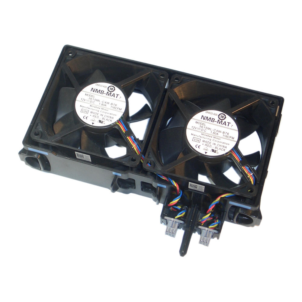 Dell GY676 PowerEdge T610 Dual Fan Assembly Minebea 3615ML-C4W-B76