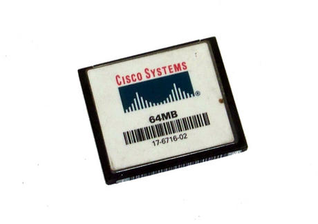 Cisco 17-6716-02 64MB Compact Flash CF Card | 2811 2851 Routers