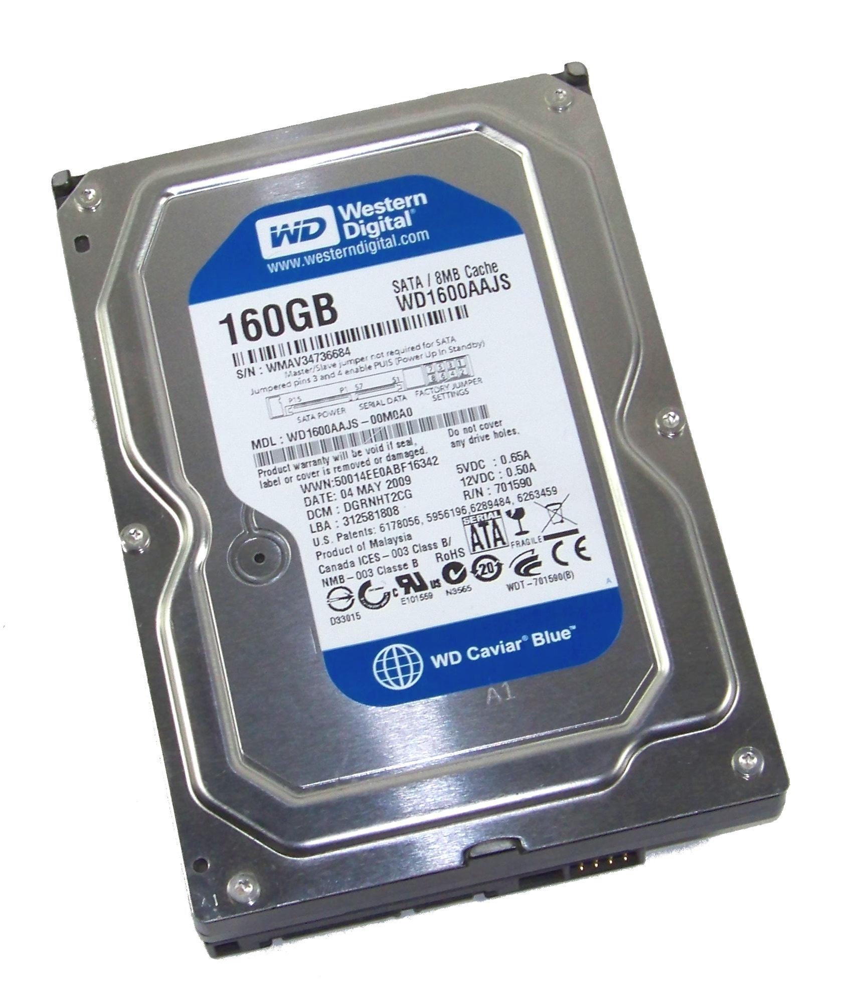 WD WD1600AAJS-00M0A0 Caviar Blue 160GB 7 2K 3 5