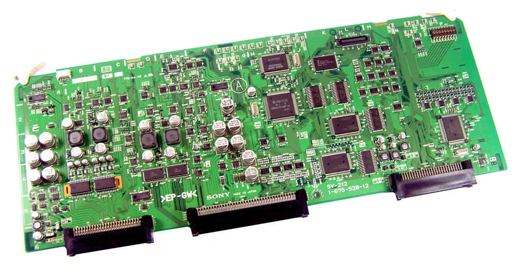 Sony SV-212 Digital Videocassette Recorder DSR-2000P Board | 1-675-528-12 EP-GW