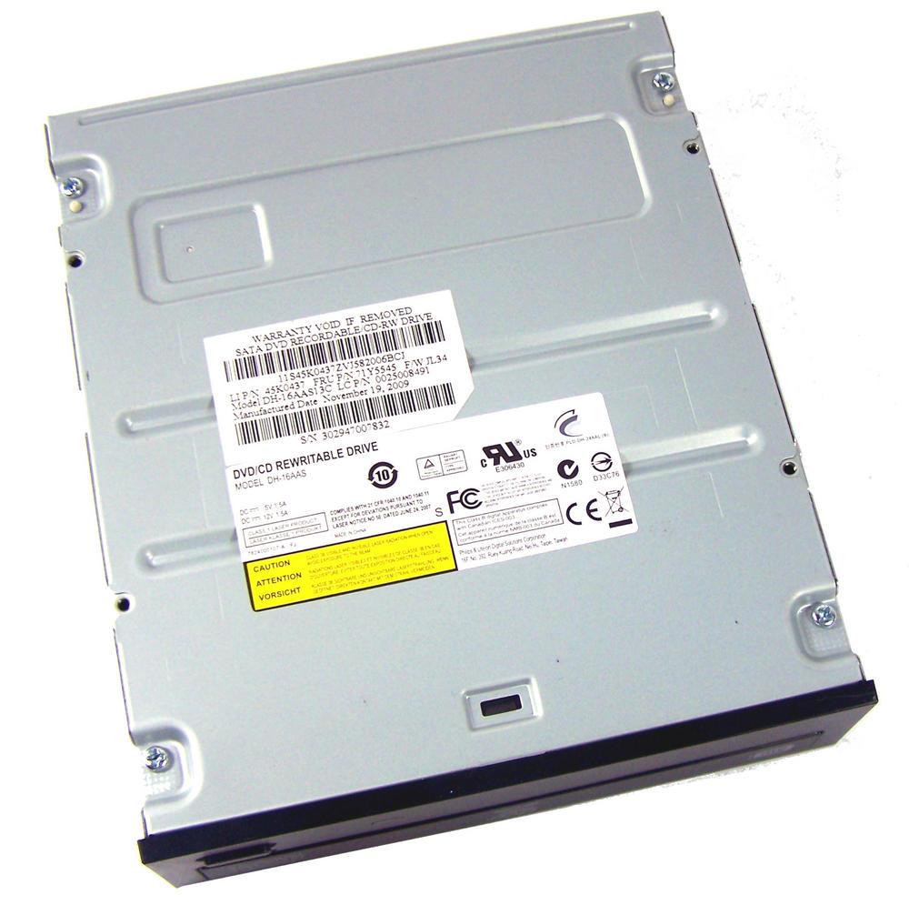 Lenovo 45K0437 ThinkCentre Edge 71 SATA DVD+R DL Drive | DH-16AAS13C FRU 71Y5545