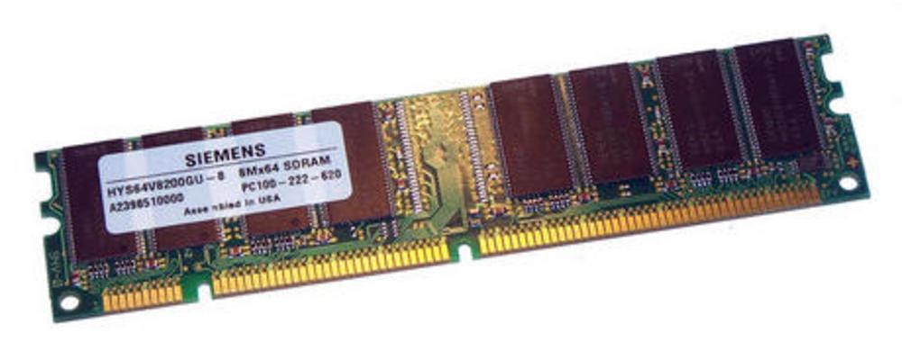 Siemens HYS64V8200GU-8 (64MB SDRAM PC100U 100MHz DIMM 168-pin) Memory Module