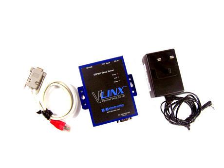VLinx ESP901 Ethernet Serial Server RS-232/422/485 Serial | Incl. Cables