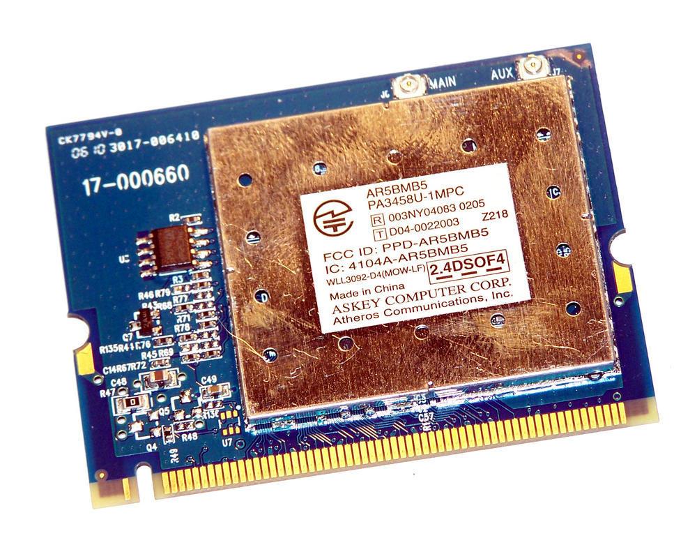 Toshiba G86C0001P210 WLAN Mini PCI Card Atheros AR5BMB WiFi 802.11a/b/g