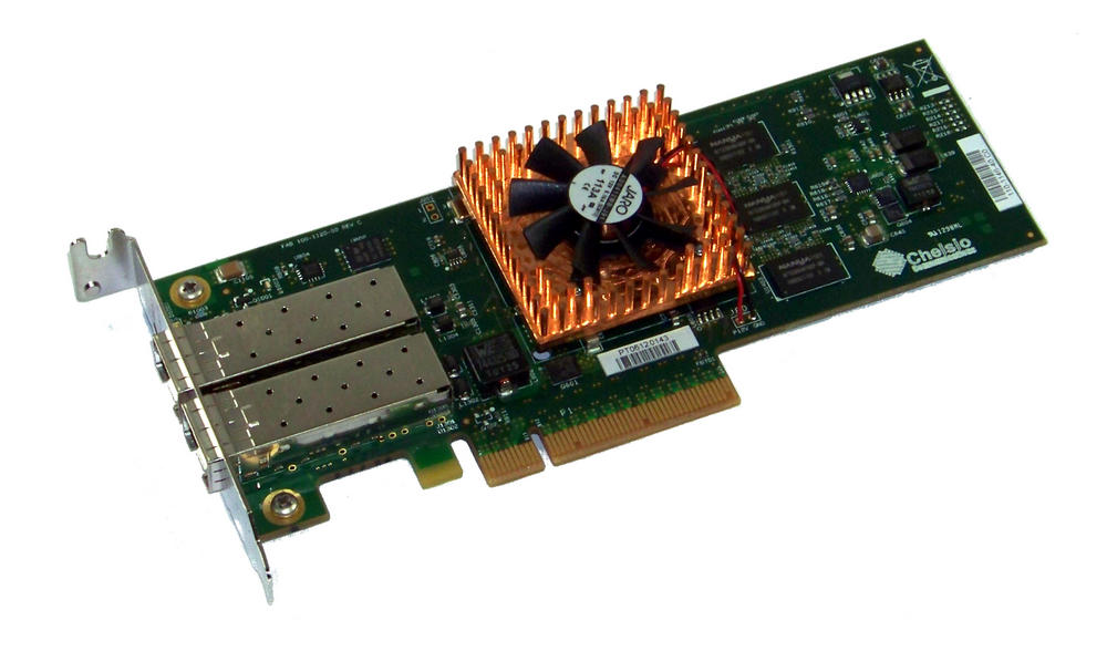 Chelsio 110-1146-40 PCIexpress 8x Dual port 10Gbps 2xSFP Network Card | Low Prof