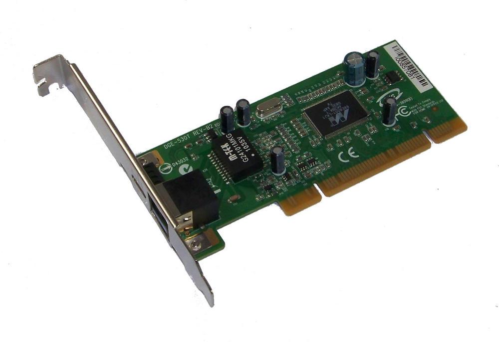 D-Link DGE-530T Rev B2 1-Port 10/100/1000 Ethernet Card | Std Profile Bracket