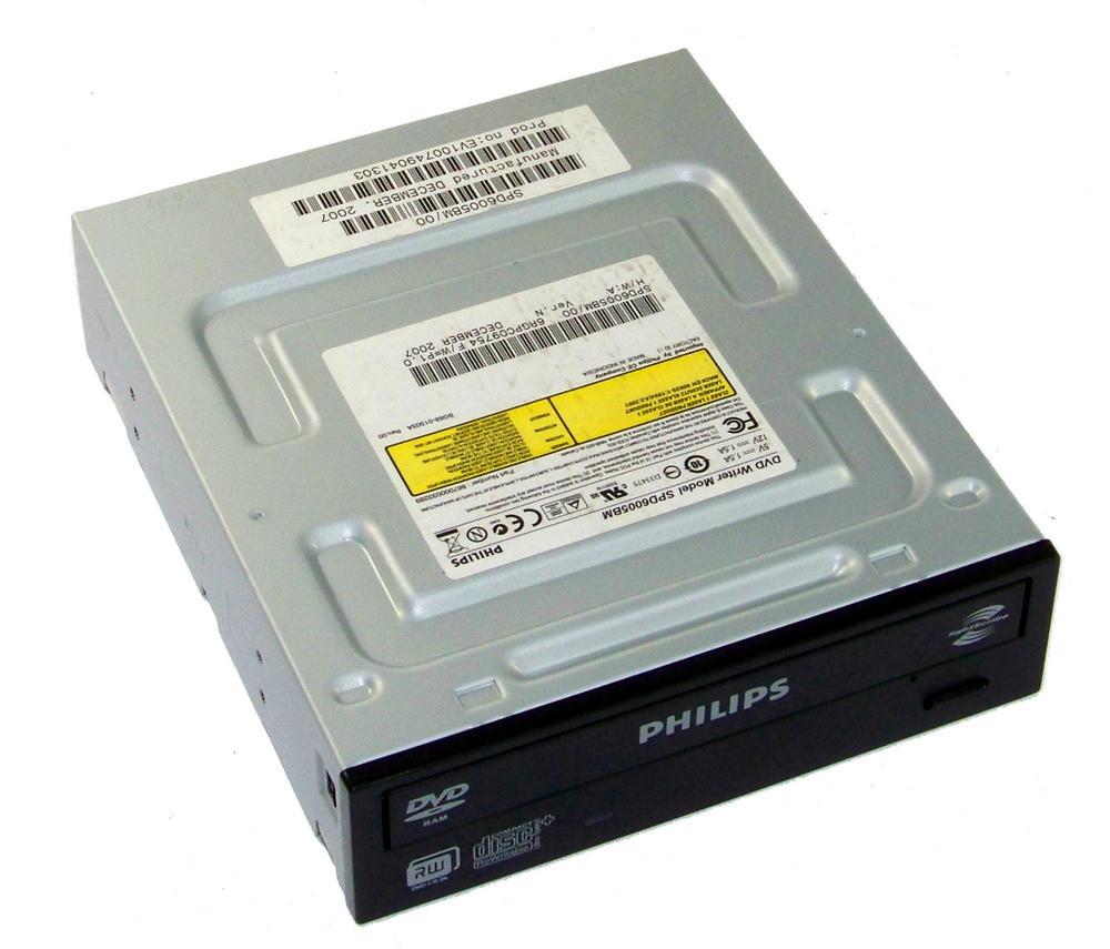 Philips SPD6005BM/000B ATA H/H DVD+R D/L DVD Writer Drive | Black Bezel