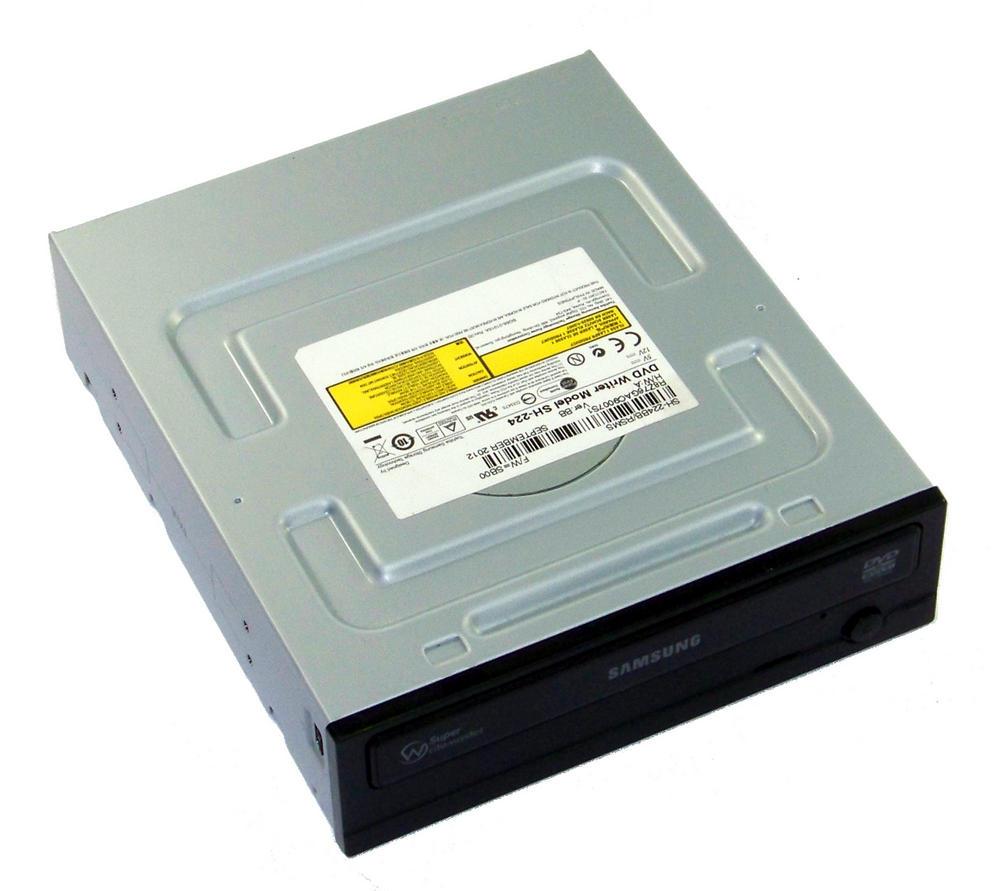 TSST SH-224BB/RSMS SH-224 Half Height SATA DVD Recorder Drive | Black Bezel