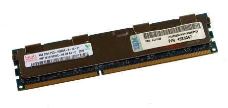 IBM 43X5047 Hynix HMT151R7BFR4C-H9 4GB PC3-10600R ECC Registered Server DIMM |