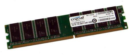 Crucial CT12864Z40B.M16TJY (1GB DDR PC3200U 400MHz DIMM 184-pin) Memory Module