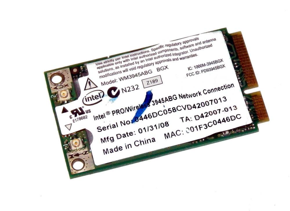 Intel D42007-013 WLAN Mini PCIexpress Card WM3945ABG WiFi 54Mbps 802.11a/b/g