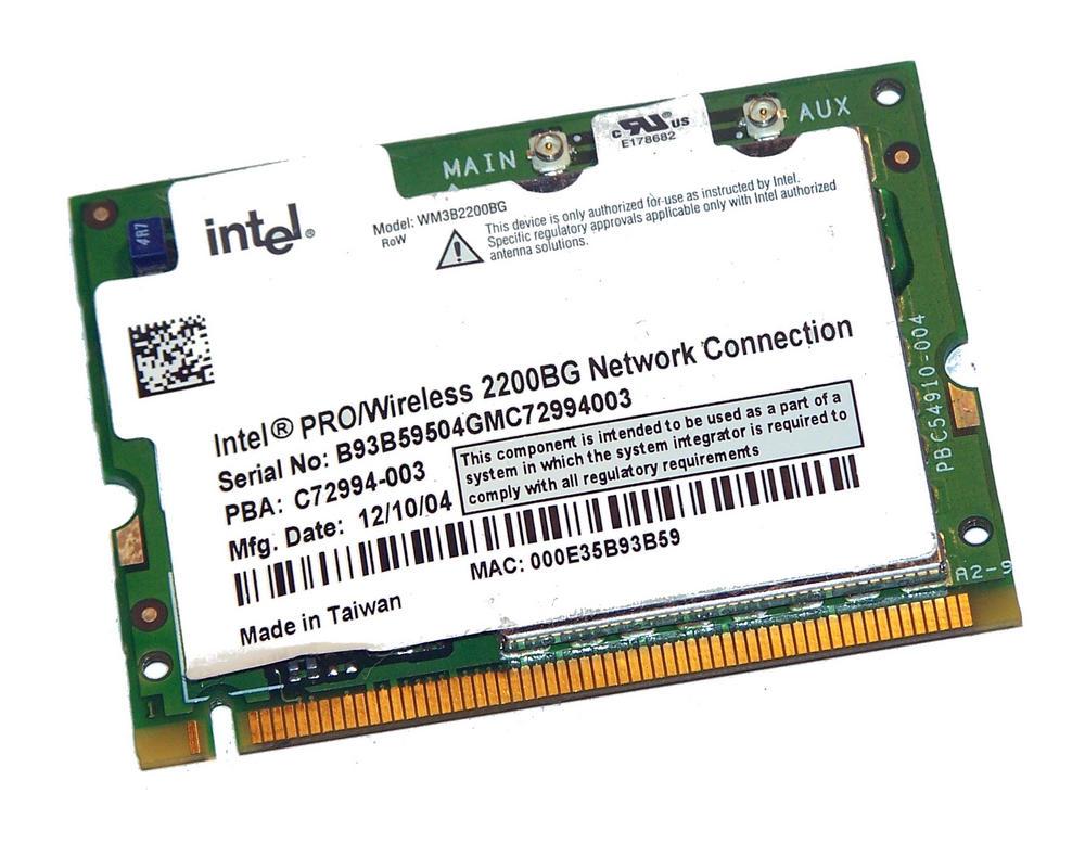 Intel C72994-003 WLAN Mini PCI Card Intel WM3B2200BG WiFi 54Mbps 802.11bg