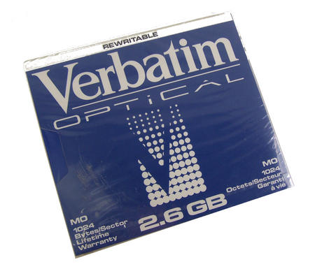 "New Rewritable Verbatim 2.6GB 5.25"" Optical Disk"
