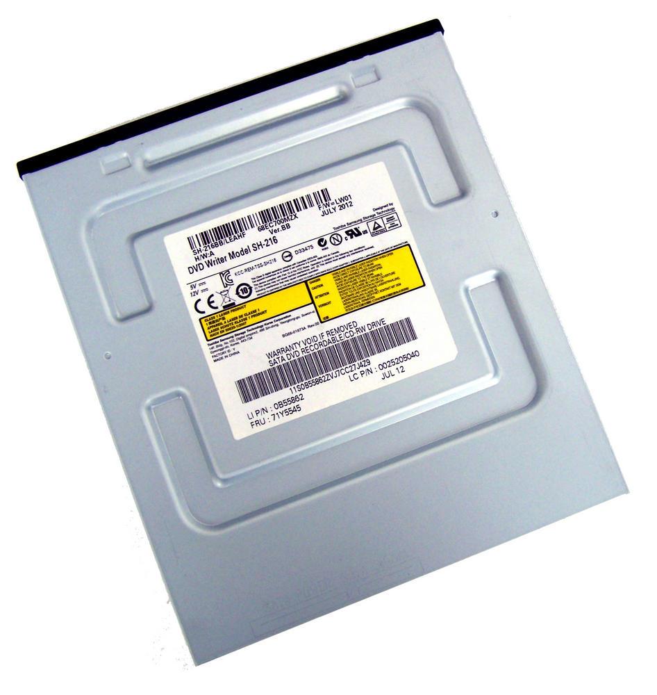 IBM 71Y5545 Black Bezel SATA H/H DVD DL Recorder Drive | Model SH-216