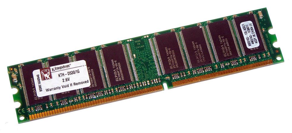 Kingston KTH-D530/1G (1GB DDR PC3200U 400MHz 184-Pin DIMM) Memory Module