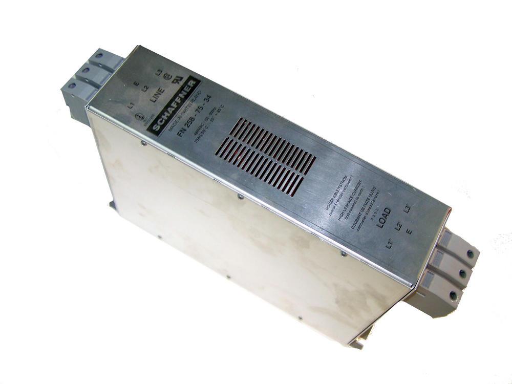 Schaffner FN258-75-34 480VAC 75A AC Filter