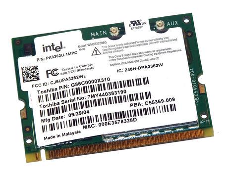 Toshiba G86C0000X310 WLAN Mini PCI Card Intel WM3B2200BG WiFi 54Mbps 802.11bg