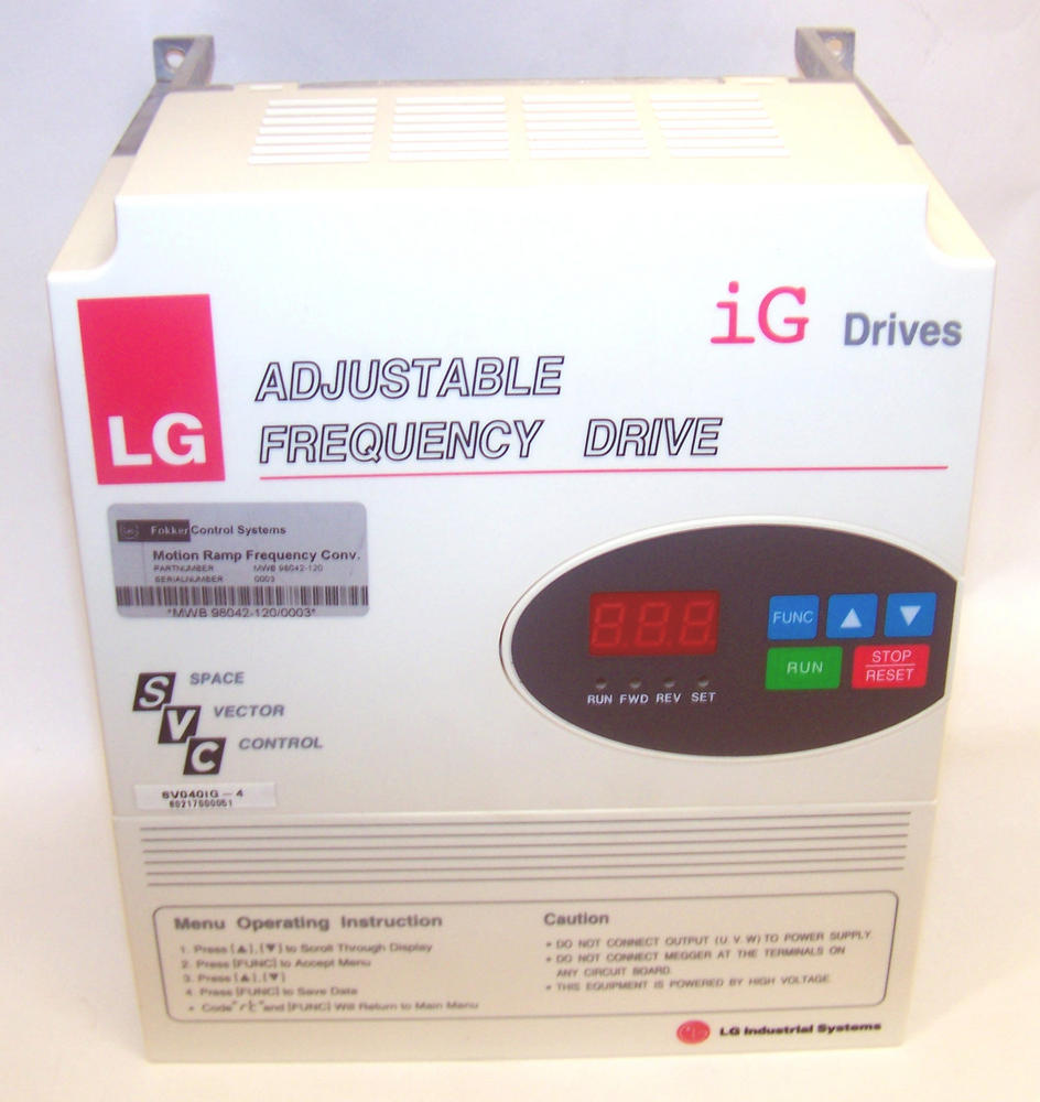 New LG SV040IG-4E Adjustable Frequency Drive Inverter 460VAC 6.9kVA