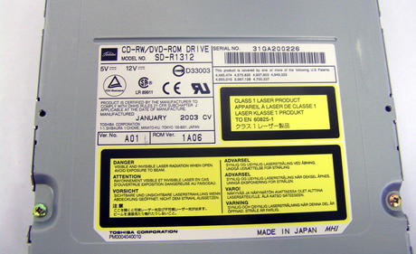 Apple 678-0423 M8570 PowerMac G4 ATA/IDE CD-RW/DVD-ROM Drive   Model SD-R1312 Thumbnail 2