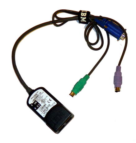 IBM 32P1639 Avocent 520-278-003 0.25m KVM PS/2 Conversion Cable | FRU 32P1645