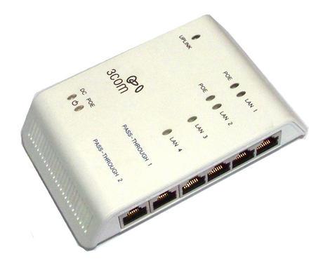 3Com 3CNJ1000 4-port NetJack 1000 Gigabit Ethernet Switch | No Power Supply