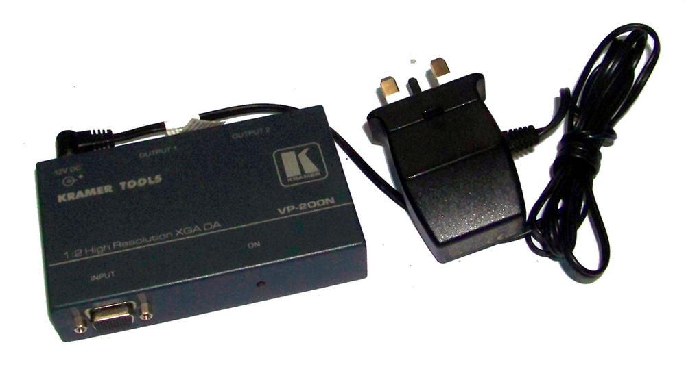 Kramer VP-200N 2-Port XGA Video Distribution Amplifier with AC Adapter