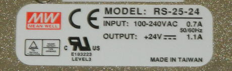 Mean Well RS-25-24 24VDC@1.1A 26W 1U Open Frame Power Supply Thumbnail 2